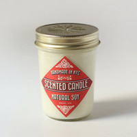 Sweet Fig Hand Poured Small Batch Soy Candle - 8 oz by Brooklyn Candle Studio - Great Hostess Gift Idea