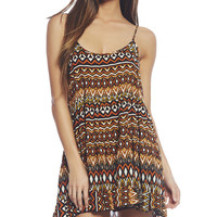 Tribal Tiered Dress | Wet Seal