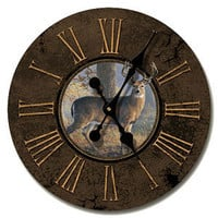 Legends Wood Wall Clock 