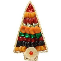 Broadway Basketeers Christmas Holiday Tree Dried Fruit (Large) Gift Basket