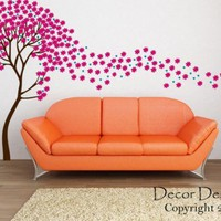 Beautiful Flower Tree in the Wind Vinyl Wall Decal | DecorDesigns - Housewares on ArtFire