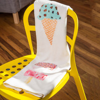 Laura Redburn Ice Cream Selection Fleece Throw Blanket