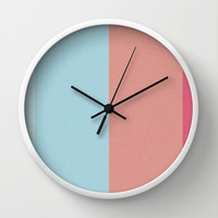 Re-Created Interference ONE No. 17 Wall Clock by Robert S. Lee