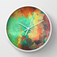 Cloudy in Paradise Wall Clock by SensualPatterns