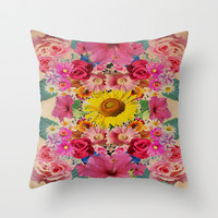 VINTAGE SPRING Throw Pillow by Nika | Society6
