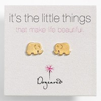 Dogeared 'It's the Little Things' Elephant Stud Earrings