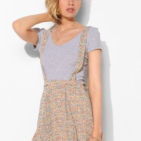 Pins and Needles Floral Chiffon Suspender Skirt - Urban Outfitters