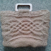 Mothers Day Pure handspun wool cable knit bag