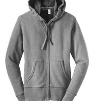 District Threads Junior Ladies Vintage French Terry FullZip Hoodie. DT233