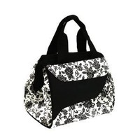 Downtown Insulated Designer Lunch Bag with Ice Pack, Ebony Pattern
