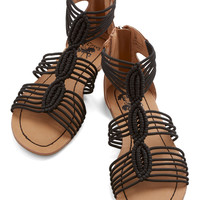 Natural Necessity Sandal in Black | Mod Retro Vintage Sandals | ModCloth.com