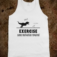 Exercise Motivation Fun T Rex Tank Shirt - Tops for women and men