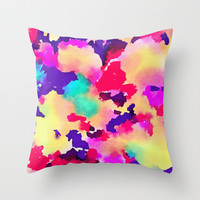 Lush Throw Pillow by Jacqueline Maldonado