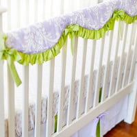 New Arrivals Sweet Violet Crib Rail Cover