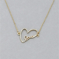 Delicate Love Necklace from P.S. I Love You More Boutique