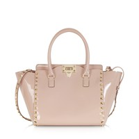 Valentino Garavani Rockstud Rose Patent Leather Satchel Bag