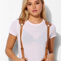 JAKIMAC Woven-Shoulder Leather Suspender - Urban Outfitters