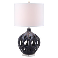 Regina Table Lamp, Navy Blue