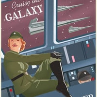 Chronically Vintage Blog: Awesome 1930s inspired Star Wars travel posters