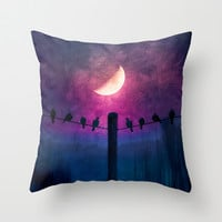 Symphony (colour option) Throw Pillow by Viviana González | Society6