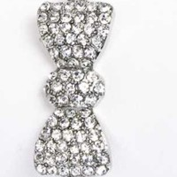 Silver Crystal Bow Bracelet from P.S. I Love You More Boutique