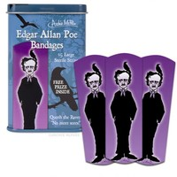 Accoutrements Edgar Allan Poe Band Aids Kitsch Unique Gift Joke Novelty Bandages