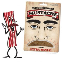 Bacon Mustache Novelty Gift Costume Kitsch Joke