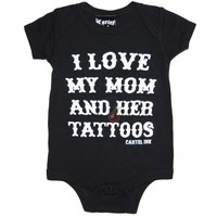 Cartel Ink I Love My Mum Baby Onesuit | Tattoo Clothing