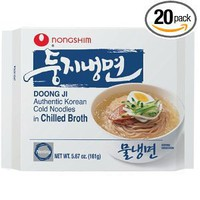Nong Shim Doong Ji Cold Noodles in Chilled Broth, 5.67 Ounce Bags (Pack of 20)