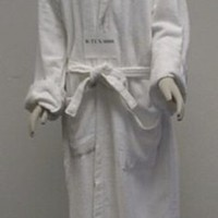 Promotional Velour Terry Robe, Shawl Collar