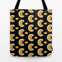 Funny Lemon Eats Lemon Pattern Tote Bag by Boriana Giormova | Society6