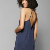 Sparkle & Fade Deep V-Back Trapeze Dress - Urban Outfitters
