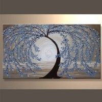 Modern Abstract Ready to Hang Stretched Canvas Oil Painting SAH17