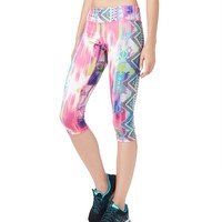LLD Abstract Geo Print Cropped Leggings
