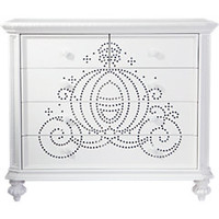 Disney Princess White Jeweled Carriage Chest