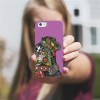 chimpanzee love orchid iPhone 5s case by Sharon Turner | Casetagram