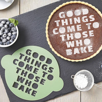 Those Who Bake Cake Stencil