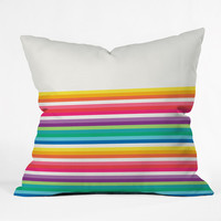 Jacqueline Maldonado Rainbow Stripe Outdoor Throw Pillow
