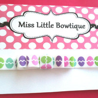 Easter Headband for Baby Girls: Pastel Easter Eggs on Soft Elastic Headband