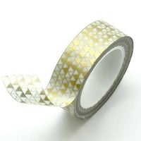 Washi Tape Paper Masking Tape - Metallic Gold Triangle