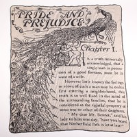 Pride and Prejudice Large Throw - Made from Pre-Consumer Products