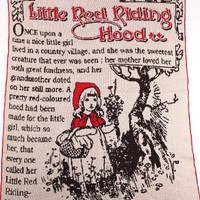 Little Red Riding Hood Large Throw- Made of Pre-Consumer Products