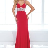 Tony Bowls Evenings TBE11431 Jersey Halter Gown