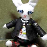 Punk Rock Rabbit Doll