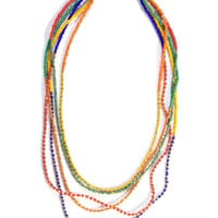 Colorful Long Necklace: Soul Flower Clothing