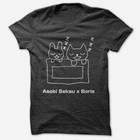 Hello Merch — Boris / Asobi Seksu White Ink