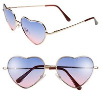BP. 'Luv' Ombré Heart Shape Sunglasses (Juniors) | Nordstrom
