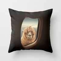 QUÈ PASA? Throw Pillow by Monika Strigel
