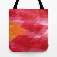 Rosey Abstract  Tote Bag by DuckyB (Brandi)