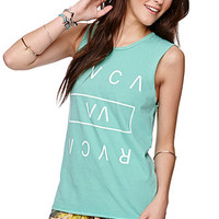 RVCA Core Box Logo Muscle T-Shirt at PacSun.com